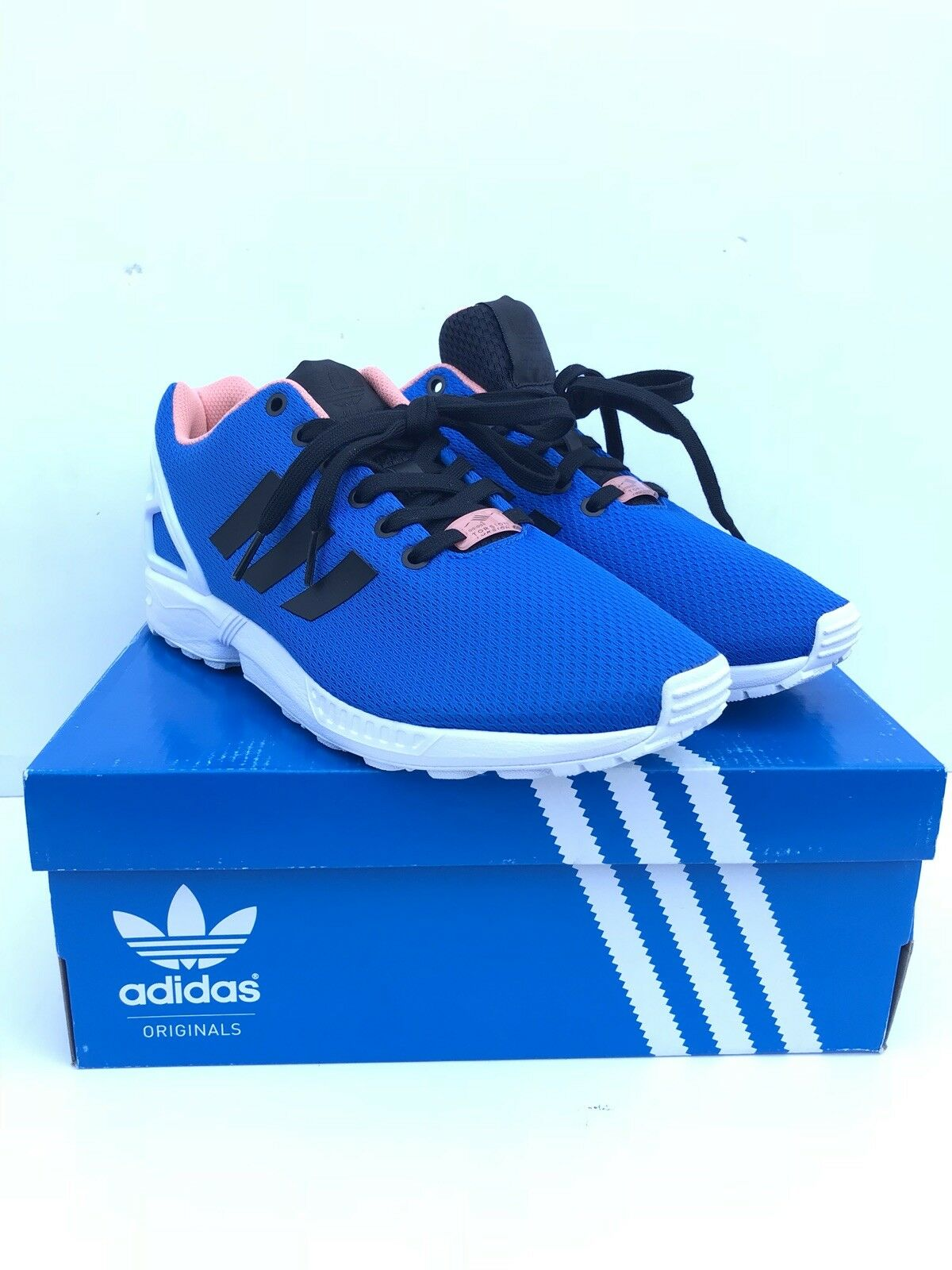 adidas ZX Flux Blue White Mens Trainers B34501 9.5