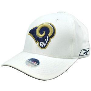 NFL-St-Saint-Louis-Rams-Reebok-Flex-Fit-One-Size-Curved-Bill-Football-Hat-Cap