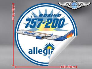 ALLEGIANT-AIR-BOEING-B757-B-757-ROUND-DECAL-STICKER-3-5-x-3-5-in-9-x-9-cm