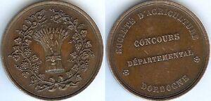 Medaille-de-table-DORDOGNE-concours-departemental-agriculture-cuivre-abeille