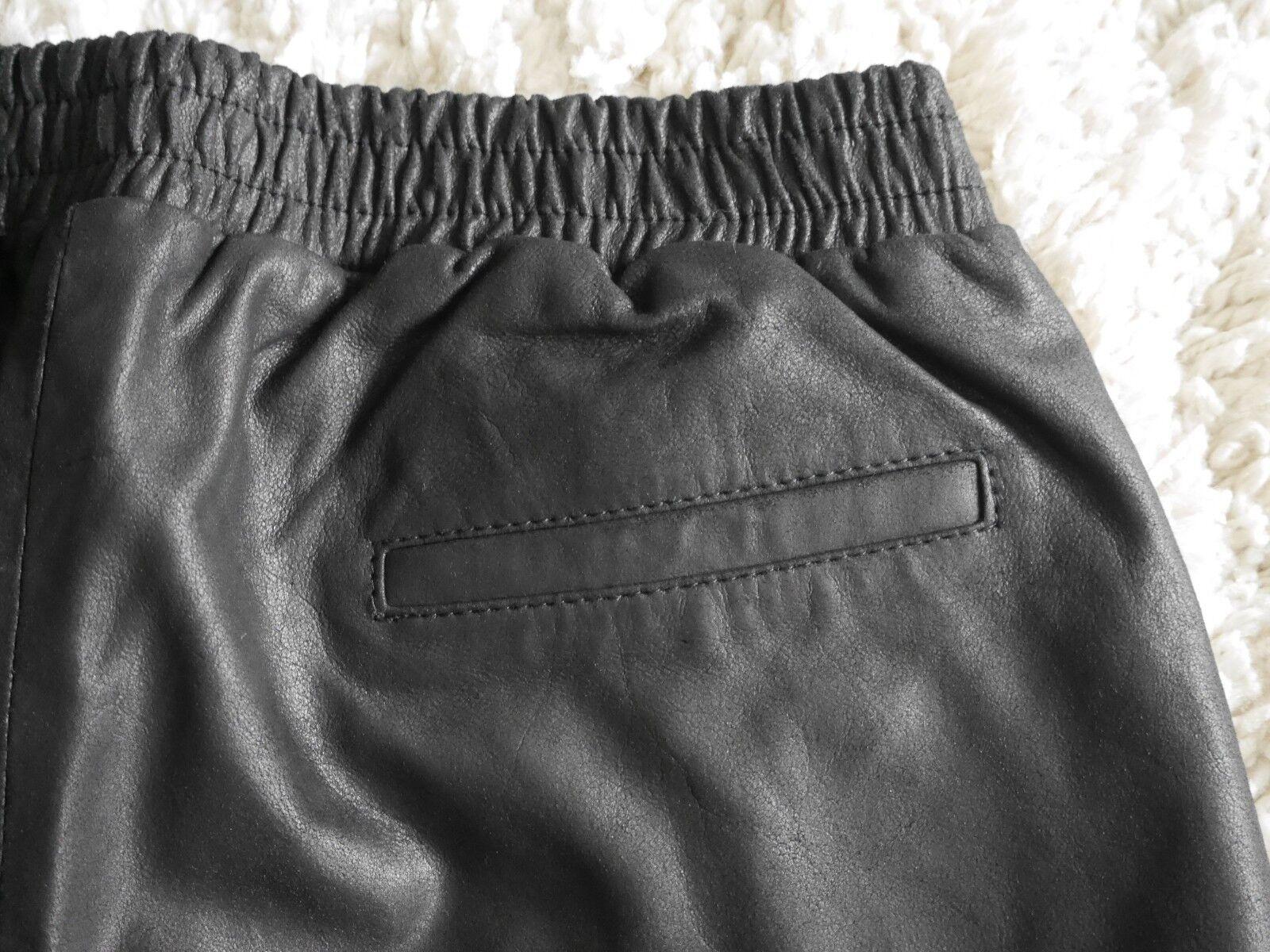 Selected Donna Donna Donna in pelle Pantaloncini culotte da donna pelle nero mis. 36 c071e3