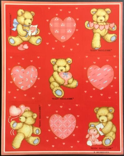 Dated 1988 Vintage Stickers Gibson Greetings Valentine's Day