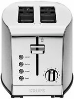 Krups Kh732d Breakfast Set 2slot Toaster With Brushed And Chrome Stainless