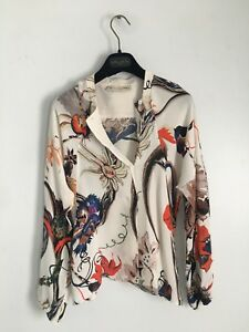 Balenciaga-by-Nicolas-Ghesquiere-Silk-Iguana-Floral-Print-Top-blouse-FW-2011