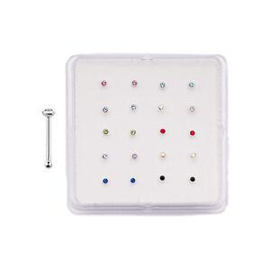 20-PCS-925-STERLING-SILVER-2MM-CZ-GEM-NOSE-BONE-STUD-RING-BODY-JEWELRY-CASE-BOX
