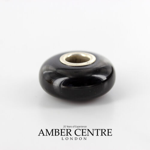Amber Trolls fits all charm bracelets Black Cherry Amber 925 Ag RRP£35!! CHA43