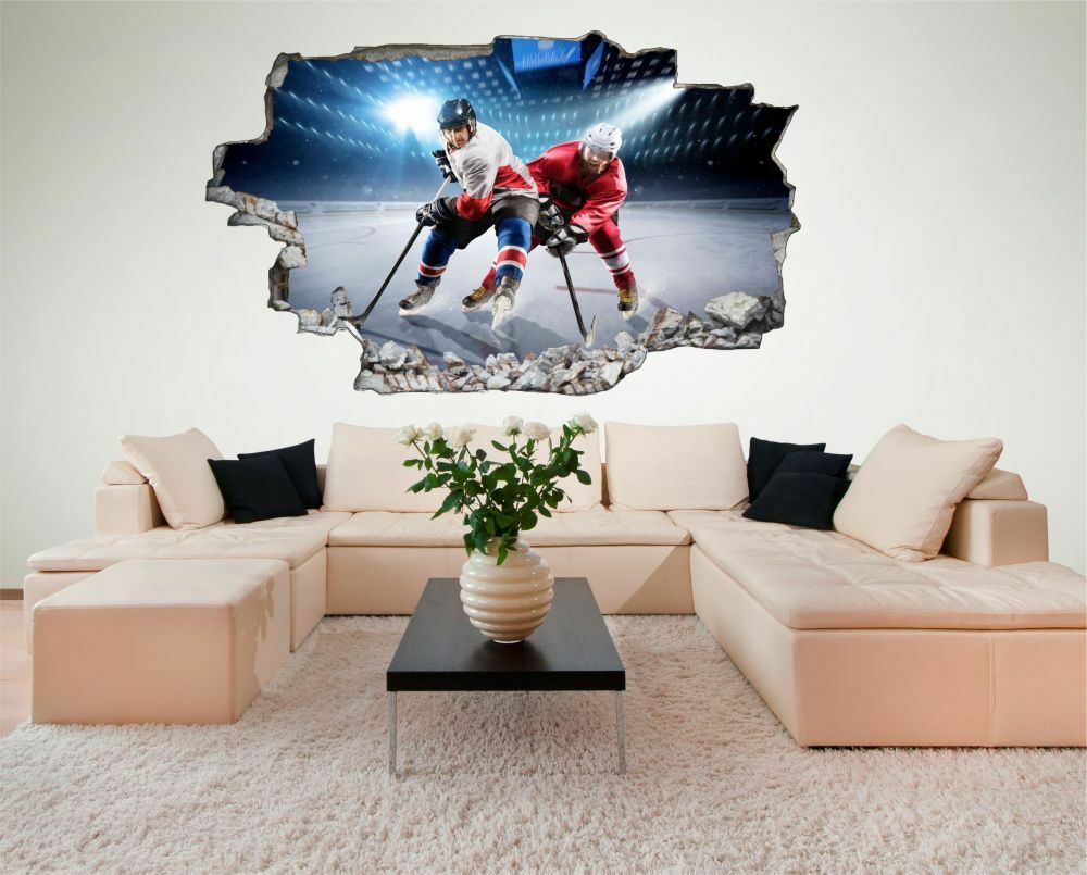 Hockey sur glace Stade Mural Sticker Autocollant Autocollant Autocollant c0617 f9f923