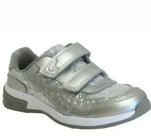 Brand New Clarks Girls Silver Leather