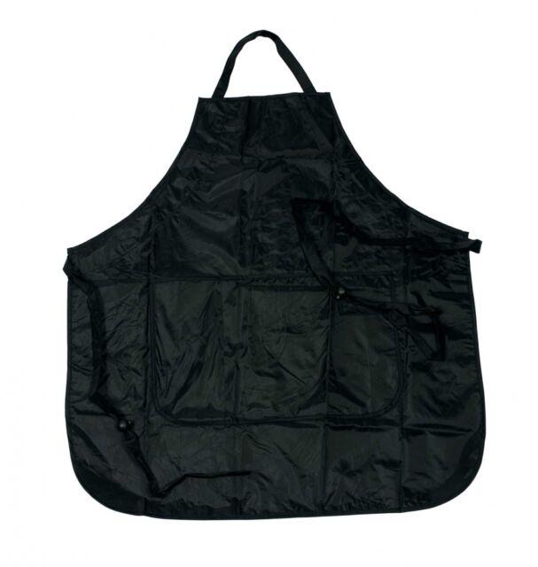 Färbeschürze Protection schwarz mit Taschen