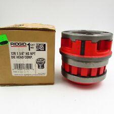 New Ridgid 37495 12r 1 14 Npt Hand Threader Die Head Complete High Speed