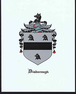 DISBOROUGH - Coat of Arms & Family Crest - Vintage Print ...