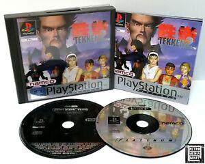 Tekken-2-Sony-Playstation-ps1-Platinum-Spiel-PAL-ausgezeichnete-CIB-W-DEMO
