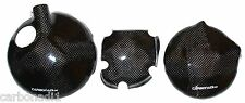 KAWASAKI ZX9R 98-03 3x CARBON KUPPLUNGSDECKEL LIMADECKEL COVER CARBONE CARBONO