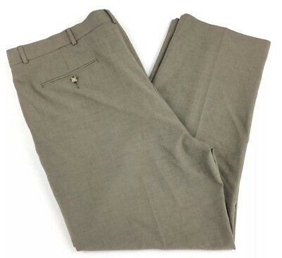 Clothing, Shoes & Accessories Men's Clothing Hospitable Stafford Essentials Classic Fit Men's Flat Front Brown Slacks Pants Size 44x30 Fashionable Patterns