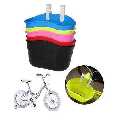 1xPlastic Bicycle Basket Children Bike Front Handlebar Carrier Scooter Saddlebag