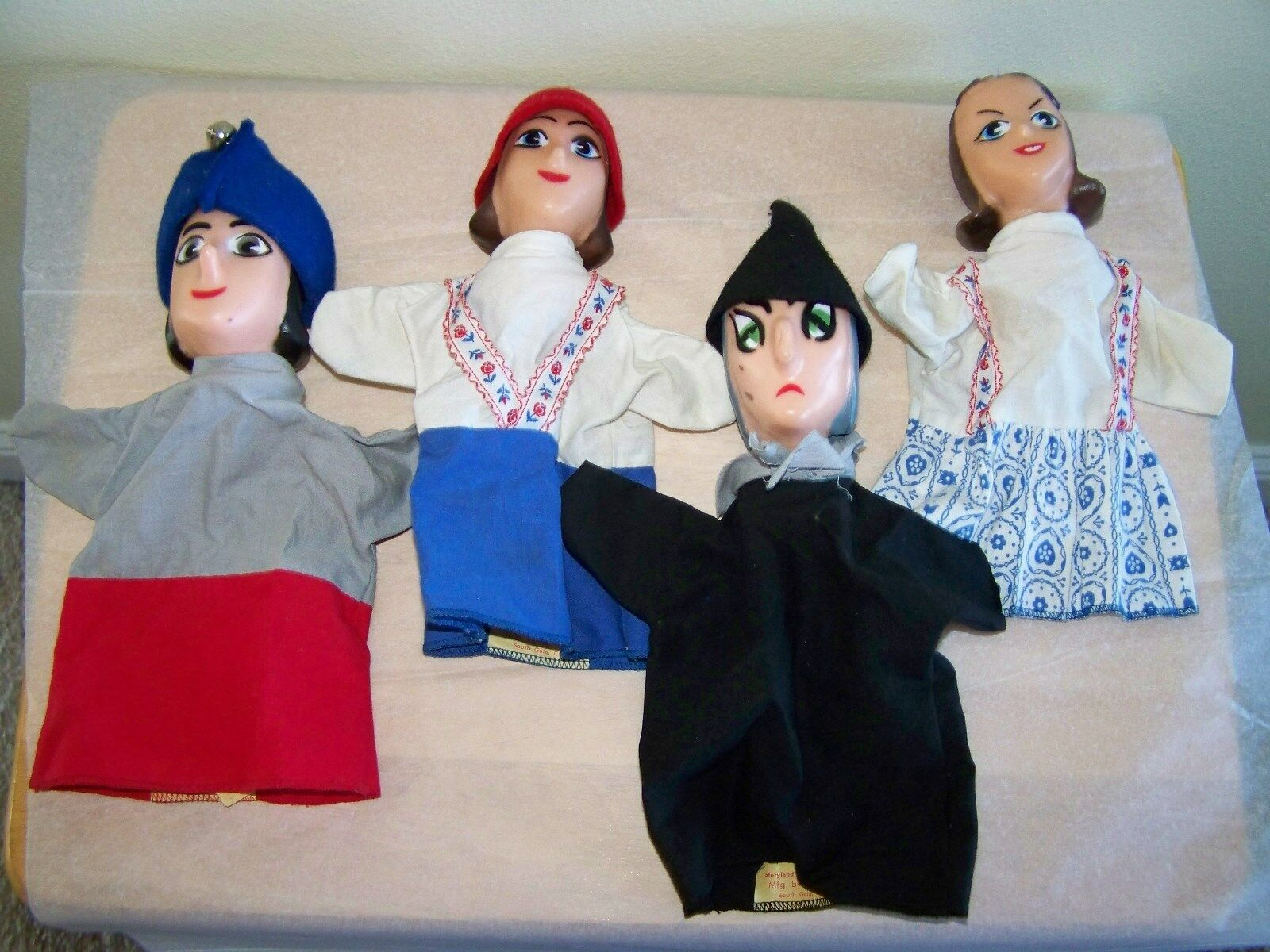 1960 Storyland Puppets By MPI Toys Of California Set oF Four