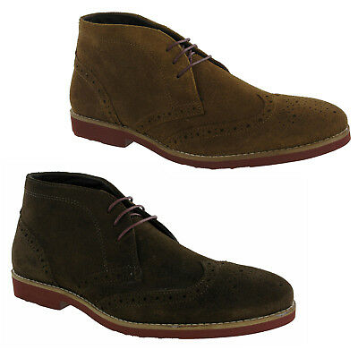 PüNktlich Redtape Foxhill Suede Leather Brogue Desert Boots Lace Up Mens Shoes Fashion Elegantes Und Robustes Paket