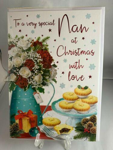 Cute Luxury Christmas Cards Red Foil & Glitter Xmas Premium ...