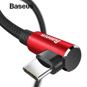 Baseus-MVP-Gaming-USB-Type-C-Data-Charger-Cable-L-Type-90-Degree-Android-Samsung