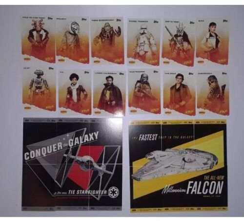 A STAR WARS STORY SOLO Complete 12-Card Set 2018 Denny/'s Topps Sealed Packs