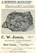1907 Cw Jones Coal Supply Nailsworth Glos Ad