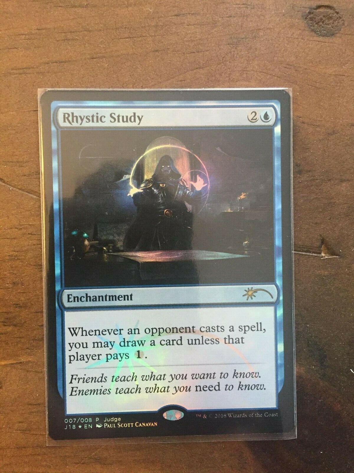 Rhystic Study judge promo foil