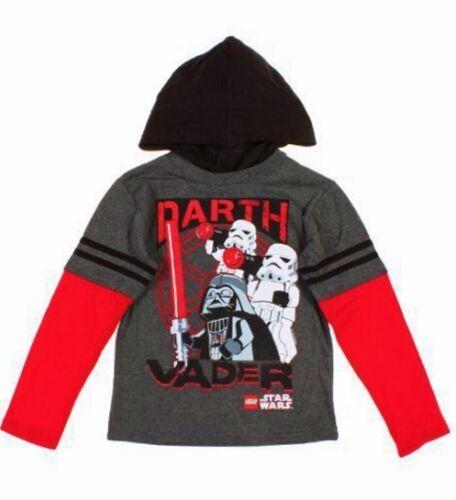 LEGO STAR WARS DARTH VADER Hooded Shirt Long-Sleeve Tee NWT Boys Sz 4 or 5//6 $22