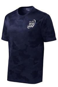 Columbia 300 Men's Rage Performance Crew Bowling Shirt Dri-Fit Navy