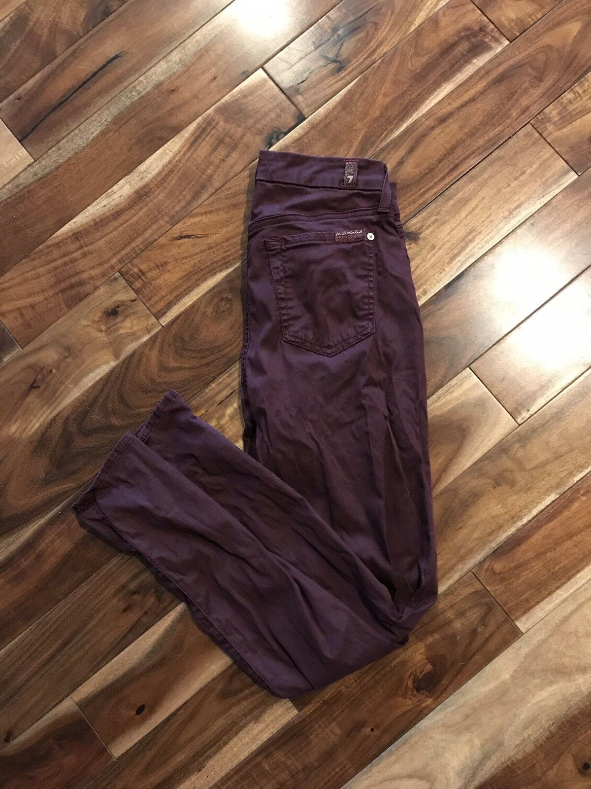 7 For All Mankind B(air) 25 Burgundy Wine Ankle Jeans Lightly Used