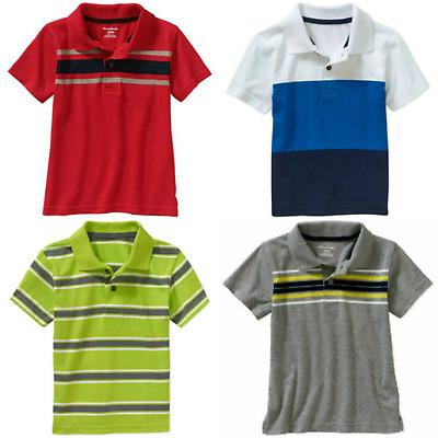 NEW Toddler Boys Short Sleeve Polo Shirt Size 2T Solid Black Top Garanimals