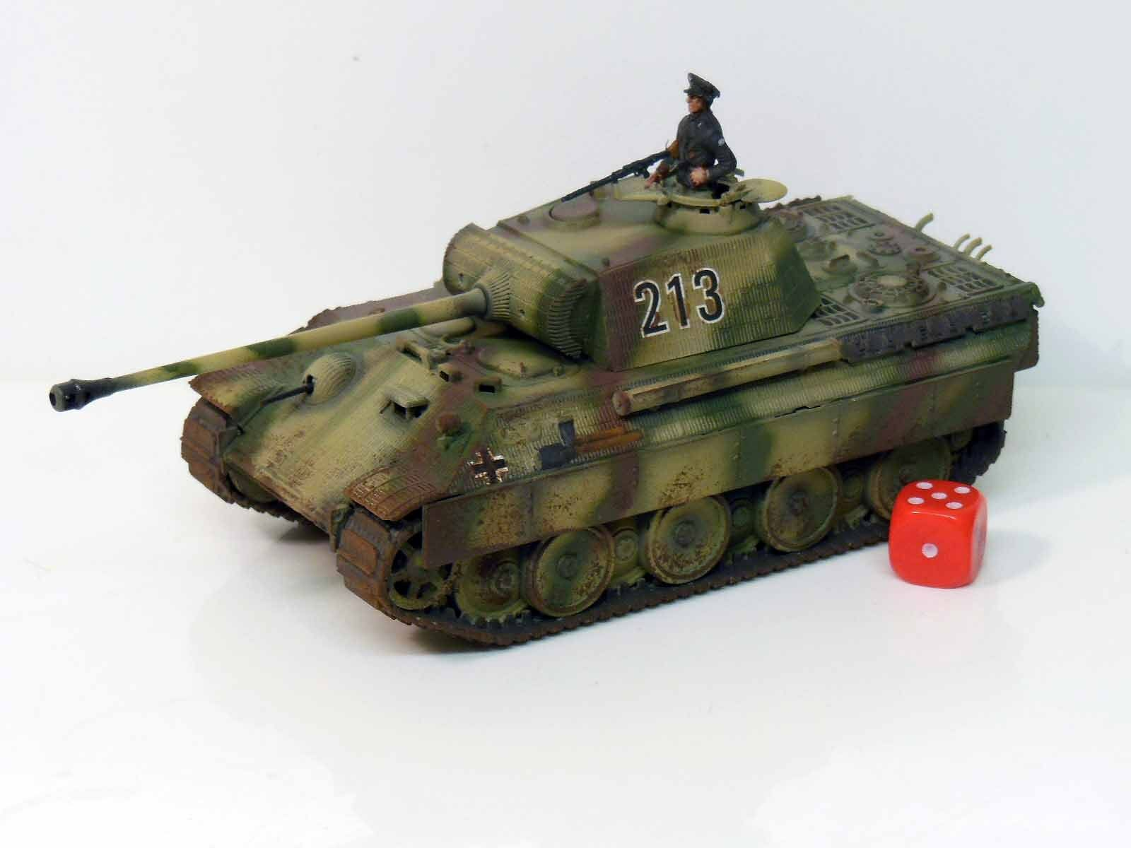 28mm Bolt Action Chain Of Command German Panther Tank Painted & Weathered R1