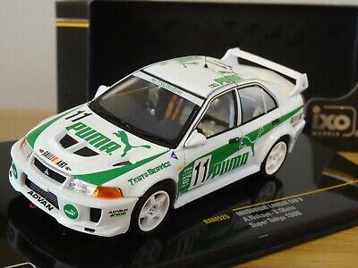 IXO 1//43 Mitsubishi Lancer Evo V WRC rally Richard Burns 1998 Coche Modelo RAM524 1