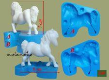 Silikonform silicone mold (240) horse pferd pony 3D cake fondant sugarcraft