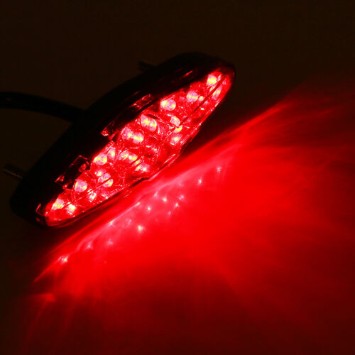 LED Motorcycle Brake Stop Running Tail Light Rear Light Lamp ATV Bike Universal