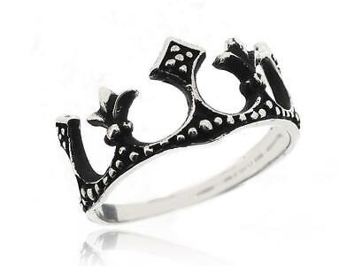 Princess Queen Crown Ring Antique Black Color 925 Sterling