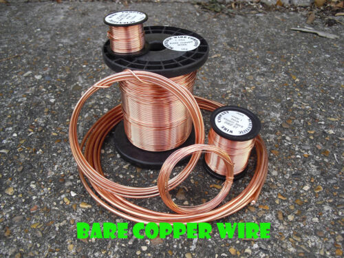 rango de tamaño completo de 0.8mm//Chapeados sólido 500g Bare Alambre de cobre puro suave 0.2mm