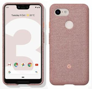 buy online 3ed6a aae30 Details about NEW GENUINE OFFICIAL GOOGLE PIXEL 3 XL FABRIC CASE COVER  GA00500 - PINK MOON