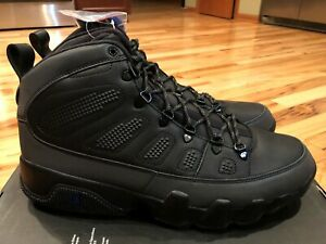 great look top quality authentic quality Nike Air Jordan 9 Retro Boot NRG Black Concord AR4491 001 Men's ...