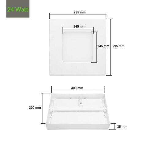 LED PANEL Aufputzlampe Aufputz Aufbau Deckenlampe Wandleuchte 6W//12W//18W//24W