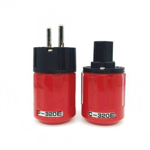 Oyaide P-320//C-320 Pure Copper EU//US Schuko AC Power Plug Ver IEC Connector