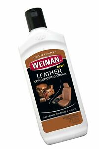 Weiman 3 in 1 Deep Leather Cleaner & Conditioner Cream - Restores Leather Sur...