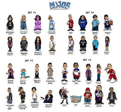 3 /& 4  --- all 34 different figures 2 Homies **** Mijos Series 1 loose set