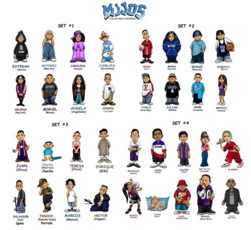 Homies **** Mijos Series 1 2 loose set 3 /& 4  --- all 34 different figures