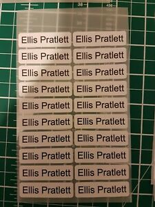 50 x PERSONALISED IRON ON SCHOOL UNIFORM CARE HOME NAME LABELS TAGS WITH ICON