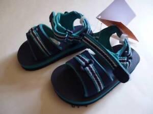GYMBOREE-Beach-Buddies-Blue-Aqua-Sandals-Water-Shoes-Toddler-Boy-Sz-3-4-5-6-NEW
