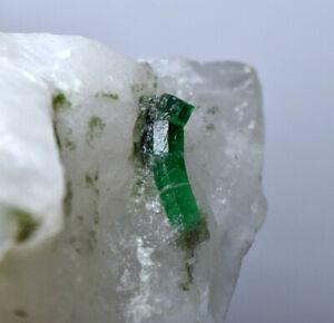 521 Gm Full Terminated Top Quality Swat Emerald Crystals On Matrix@Pakistan
