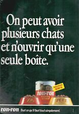 ▬► PUBLICITE ADVERTISING AD PATEE RON-RON CHATS