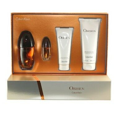 Obsession Women 4 pc Gift Set 3.4 EDP + Travel Size + Shower Gel + Body Lotion