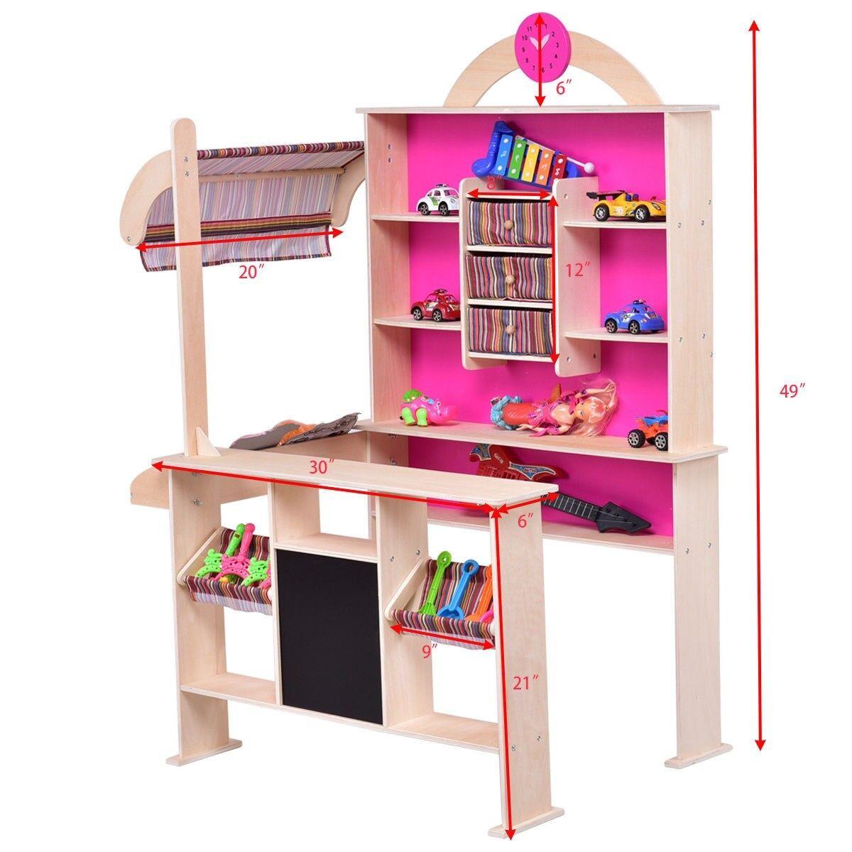 Kinder, kinder mit spielzeugladen markt einkaufen, als geschenk playset spielzeug spielen hat uns