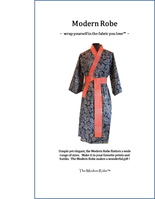 Modern Robe Sewing Pattern for Women and Men. Now shipping to Canada, U.K., Aus.
